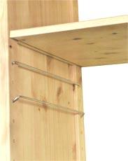 how to make an adjustable bedside storage